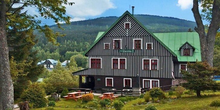 Pohoda ve Špindlu pro dva i čtyřčlennou rodinu vč. sauny i polopenze
