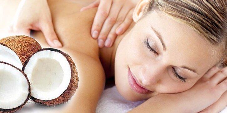 60minutová voňavá kokosová masáž vč. peelingu