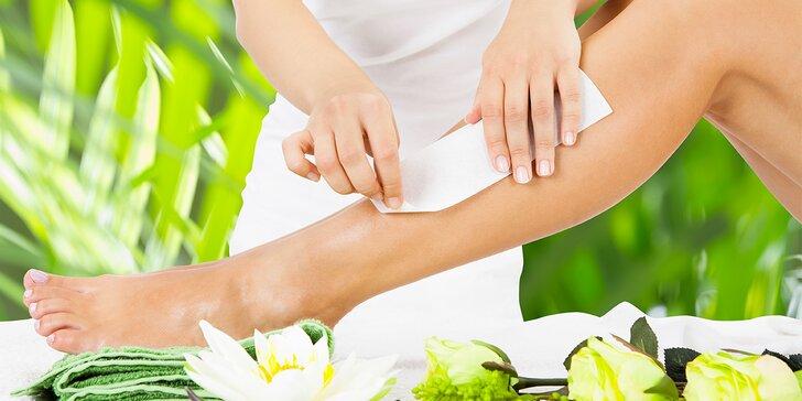 Depilace rukou, lýtek nebo celých nohou teplým voskem