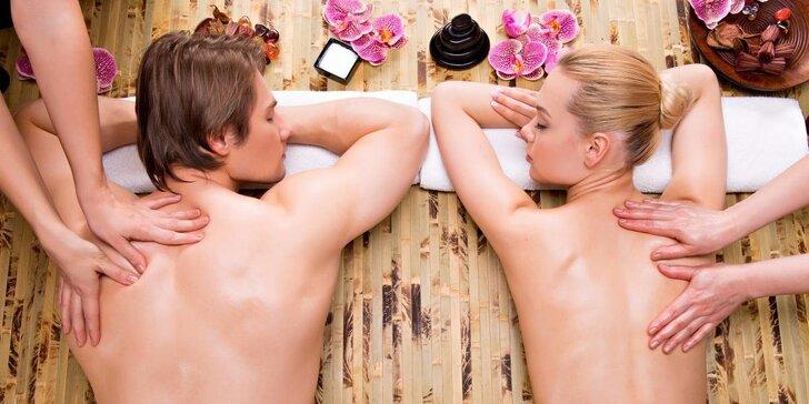 60 nebo 90 minut relaxační masáže pro dva – výběr ze 3 druhů