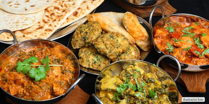 Otevřený voucher v hodnotě 300 Kč na konzumaci v indické restauraci