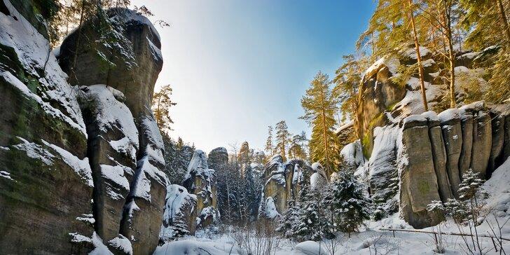 3–6 pohodových dní v blízkosti Adršpachu – pro dva a s polopenzí