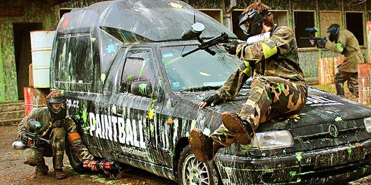 Paintballová střílečka vč. ochranného vybavení a munice do začátku
