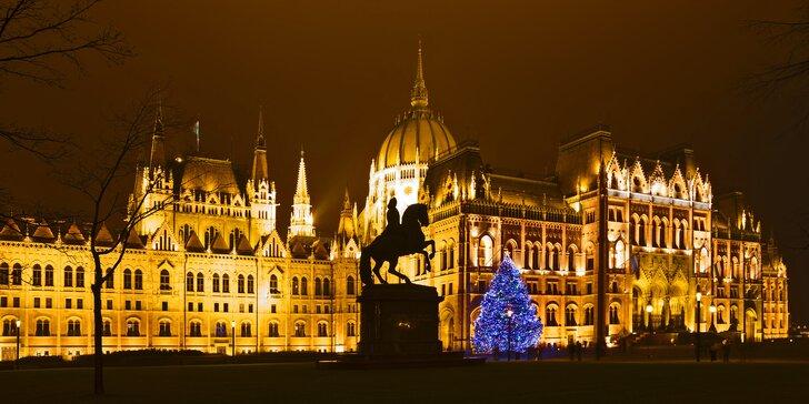Na víkend za krásami adventní Budapešti včetně noclehu ve 3* hotelu se snídaní