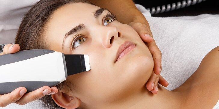 Čištění pleti ultrazvukem včetně použití galvanické žehličky