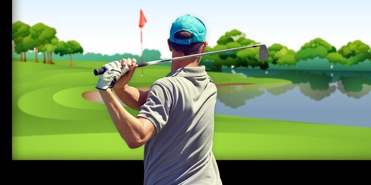 60 minut indoor golfu na profesionálním full swing simulátoru až pro 4 osoby