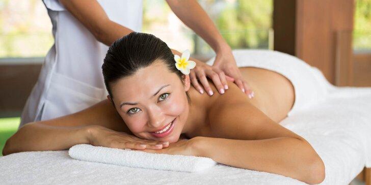30- nebo 60minutová relaxační masáž pro váš odpočinek