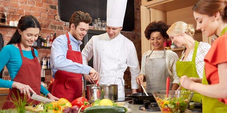 Dárkový poukaz na kurz vaření Praha v hodnotě 2000 Kč v rodinné škole vaření