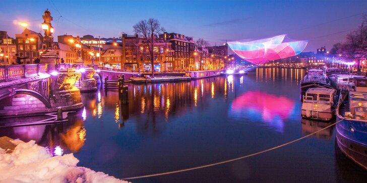 Rozzářený předvánoční Amsterdam se světelnou show: 1x ubytování se snídaní