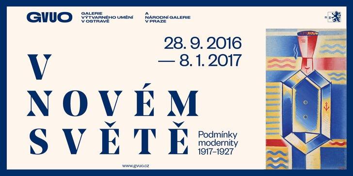 60 autorů: Výstava V novém světě / Podmínky modernity 1917–1927