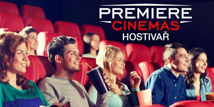 Filmový zážitek v Premiere Cinemas + popcorn a pití pro dospělé, studenty i rodinu