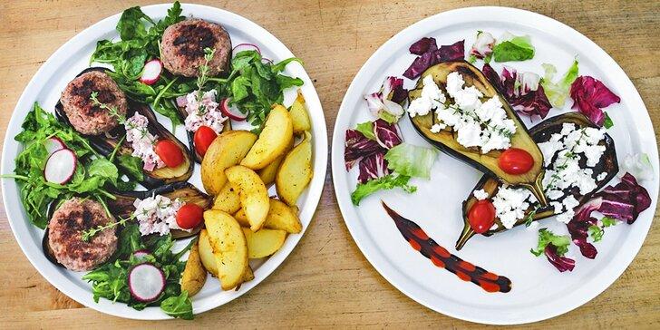 Chutné balkánské menu pro 1 či 2 osoby: Vydatná porcička masa a zeleniny