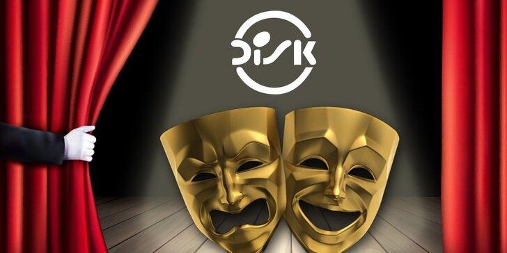 33% sleva na nákup až 4 vstupenek do divadla DISK