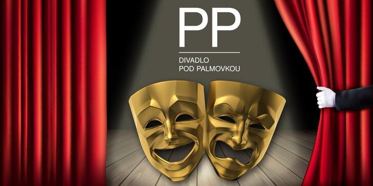 2 vstupenky na říjnová představení do Divadla pod Palmovkou s 30% slevou