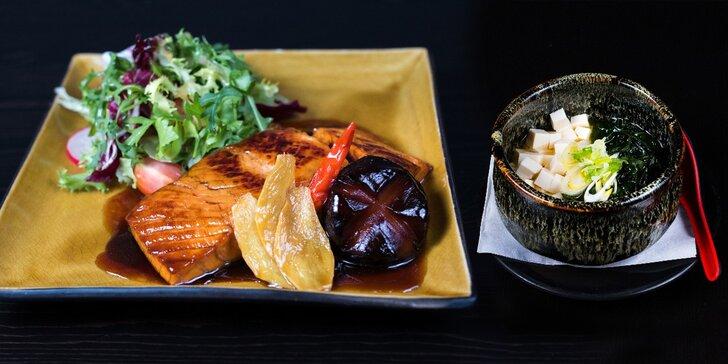 Na oběd do Japonska: Polední menu s miso polévkou a lososem