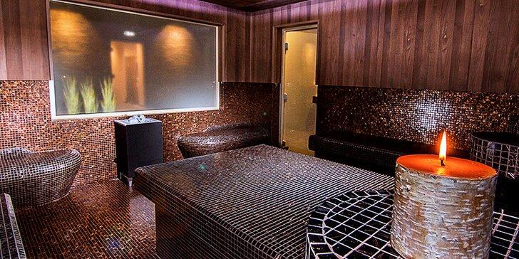 Celodenní vstup do wellness na Harfě s luxusními saunami pro 1 nebo 2 osoby