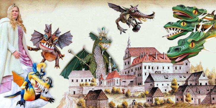 Rodinné vstupné na prohlídkový okruh plný draků a pohádková knížka
