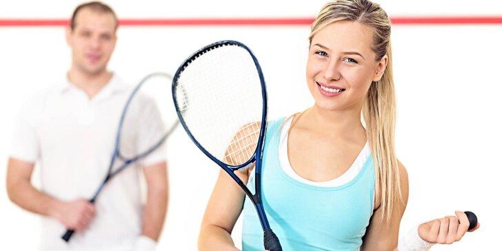 Squashový kurt na 60 minut - hodina intenzivního pohybu a radosti ze hry