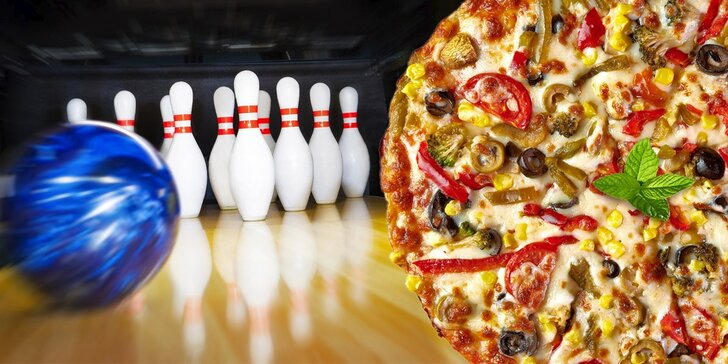 Pizza a hodina bowlingu v Pizzerii Sole Mio v Kostelci na Hané
