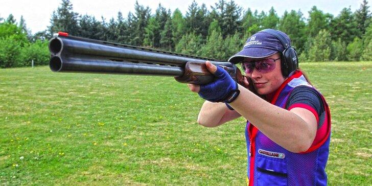 Střelba ze sportovní brokové kozlice - 25, 50, nebo 100 terčů