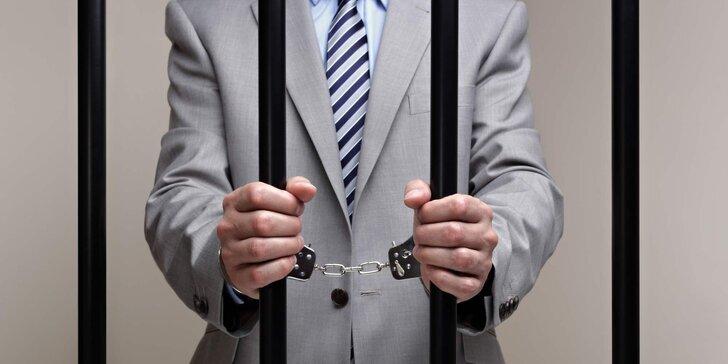 Vyšetřovací úniková hra Advokát a sleva 30 % na další pokoj