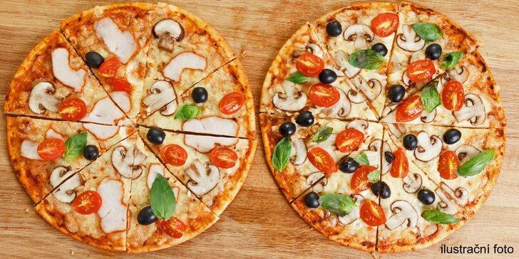 Itálie v centru Brna – 2 libovolné pizzy o průměru 32 cm