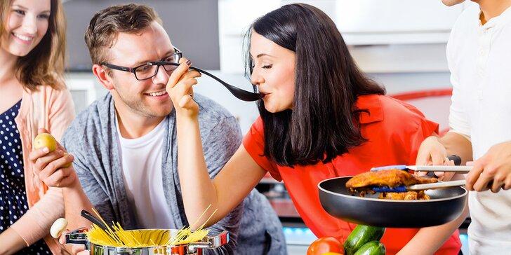 2 hodiny kurzu vaření s konverzací v angličtině, výběr z různých kuchyní