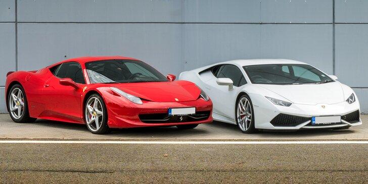 Řízení nejnovějšího Lamborghini, Ferrari, Maserati včetně paliva po celé ČR
