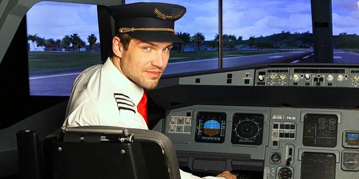 Pilotování nejznámějších dopravních letounů – realistický zážitek na simulátoru