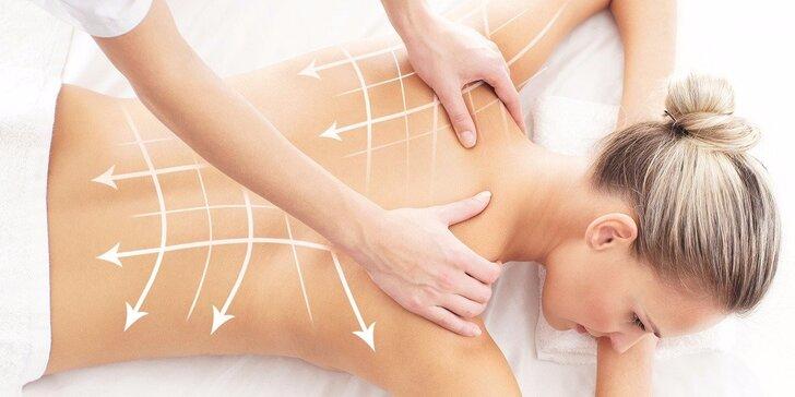 60 nebo 90 minut masáže pro skvostné uvolnění zad a šíje