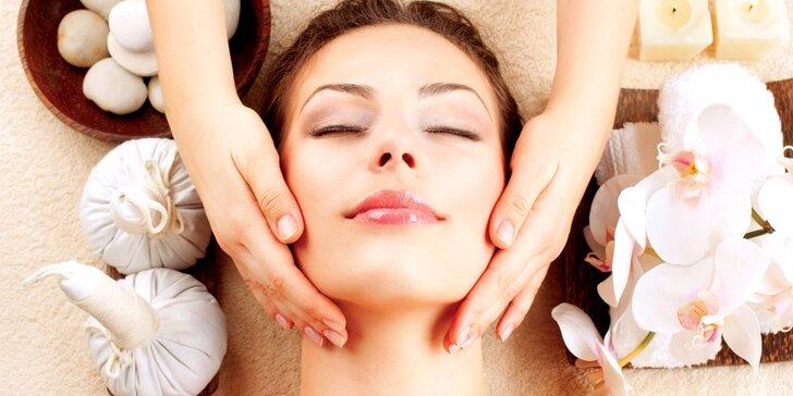 Omlazující lymfatická masáž obličeje arganovým olejem