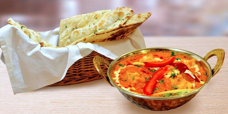 Indie na talíři: indické menu v hodnotě 500 Kč dle vlastního výběru