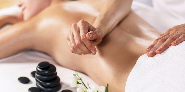 Naprosté uvolnění při masáži dle výběru na 50 až 90 minut