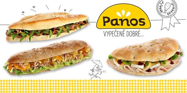 Vypečeně dobré sendviče Panos s hovězím, krůtím i kachním masem