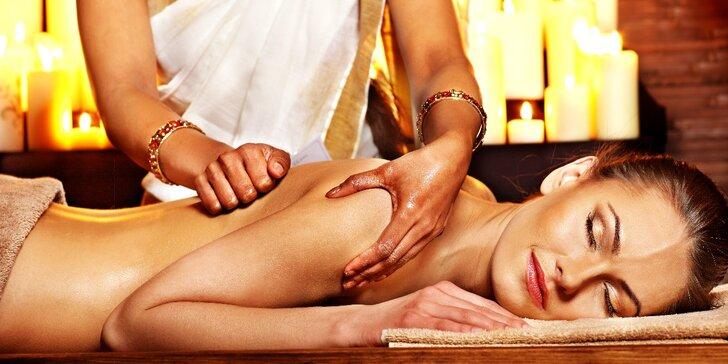 Ayurvédská masáž hlavy, zad a krční páteře Shirobhjang