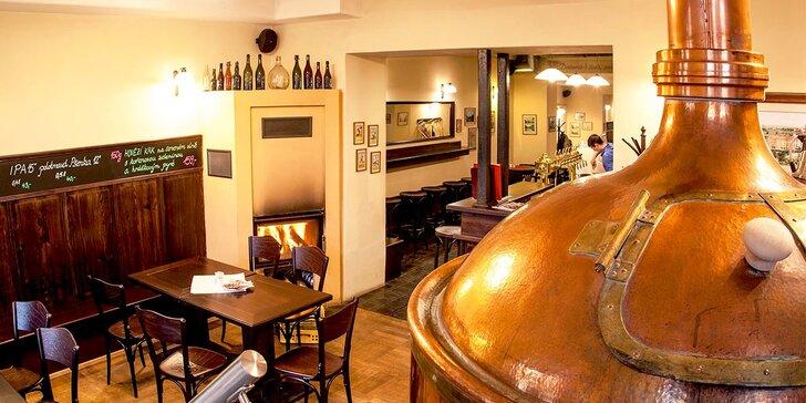 Pobyt v pražském penzionu Kolčavka s degustací piva a prohlídkou minipivovaru