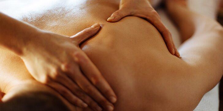 Klasická masáž v délce 60 minut - horní a dolní končetiny, záda a šíje