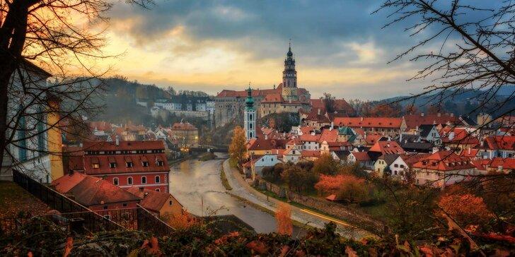 Romantika se snídaní v historickém centru Českého Krumlova pro dva