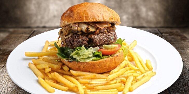 Burgermenu v americkém motorestu BBQ Smokehouse