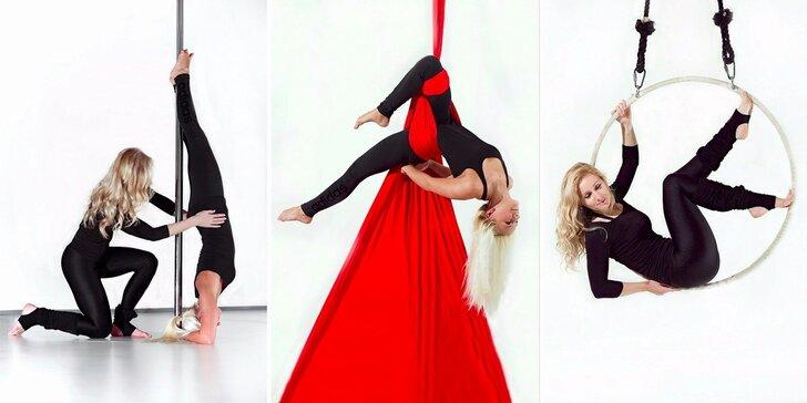 Víkendové lekce pole dance, aerial silks nebo aerial hoop pro začátečníky
