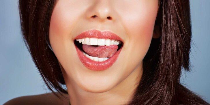 Ordinační bělení zubů s možností kompletní dentální hygieny