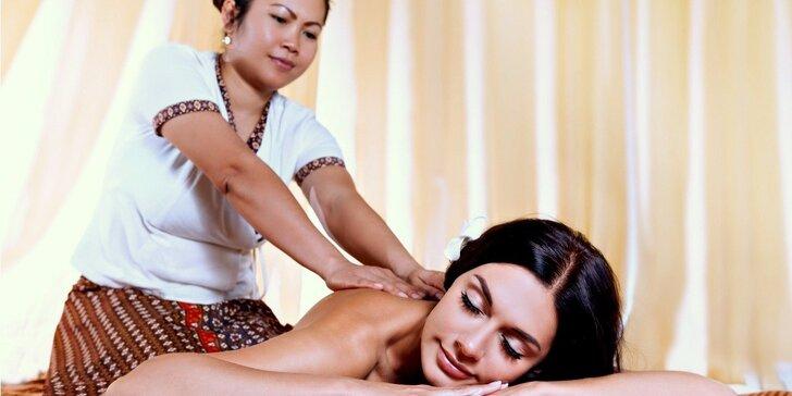 Exotické thajské i jávské relaxace nebo thajské olejové masáže
