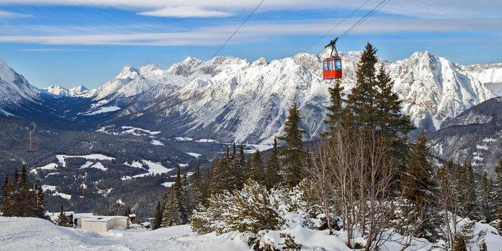Pravá rakouská lyžovačka se skipasem do Axamer Lizum a plnou penzí