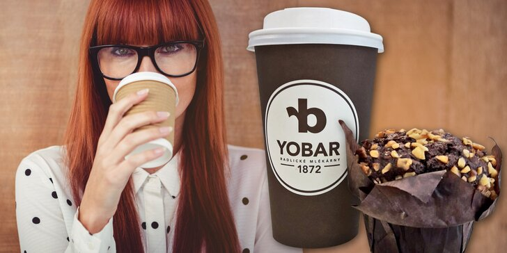 Káva a muffin z oblíbeného Yobaru: Na cestu do ruky nebo k posezení na místě