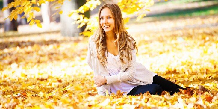 Podzimní barevné focení v exteriéru