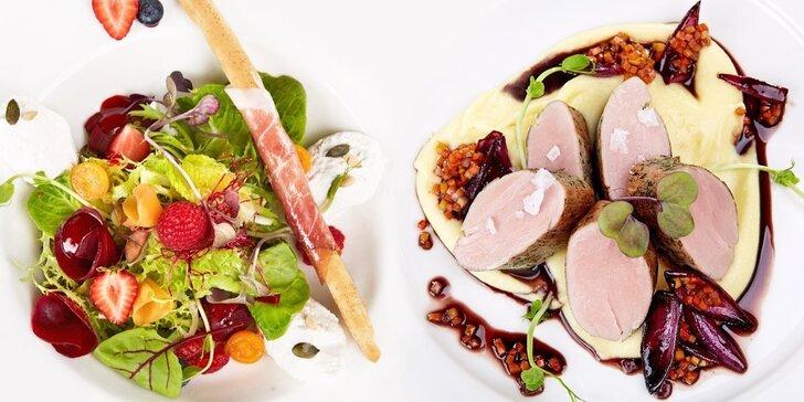 Degustační menu pro 2 labužníky: 8 vytříbených chodů v Restaurantu Albert Málek