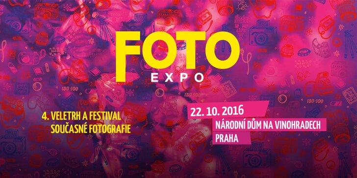 Vstupenka na veletrh a festival současné fotografie FOTOEXPO + kniha fotografií