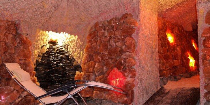 50minutový pobyt v solné jeskyni z himalajské soli pro dva