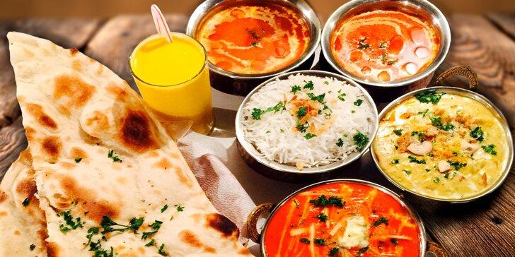 Indické hody pro dva v restauraci Taj Mahal - nápoj, polévka i hlavní jídlo