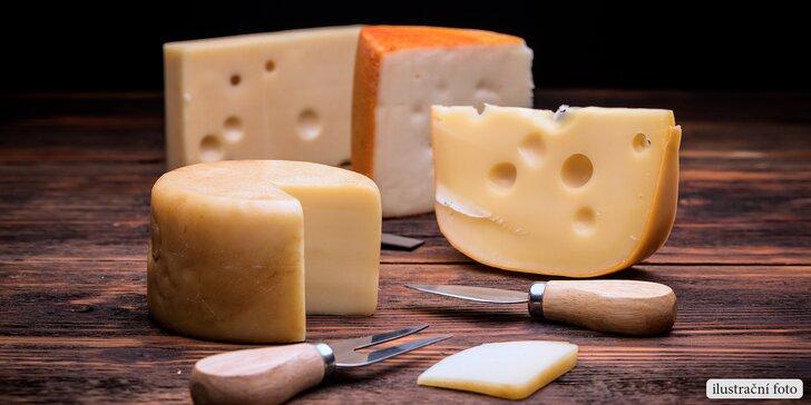 Otevřený voucher na nákup delikátních holandských sýrů v centru Brna
